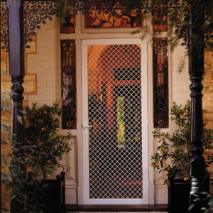 Diamond grille security screens