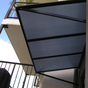 Polycarbonate hood awnings